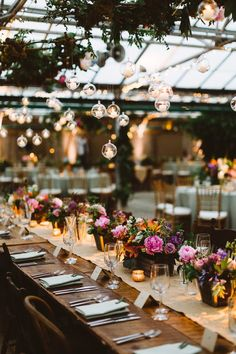 Farm Style Tables at Philadelphia Horticulture Center Wedding :: Flowers by Fresh Design Flora and Events :: Photography by Pat Furey Photography :: Planning by Kyle Michelle Weddings