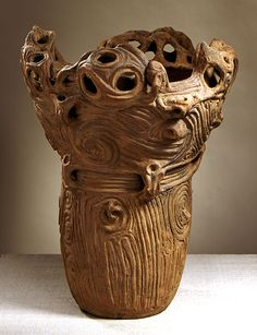 Anonymous   Vessel, middle Jomon period, circa 3000-2000 B.C.  Archaeological artifact, Coil-built earthenware with incised, modeled, and applied decoration, Height: 22 1/8 in. This impressive pottery vessel of the middle Jomon period (c. 3000–2000 b.c.) was made during Japan's earliest ceramic culture