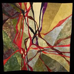 """Tangle"" by Bonnie Bucknam, inspired by shapes and colors of trees in Pacific Northwest"