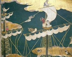 The Arrival of the Portuguese in Japan, Namban screen, Japan c.1600.