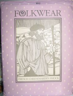 Pattern 102 French Cheesemaker's Smock Folkwear All Sizes Offered by #Ms_Prissys_Patterns on Bonanza