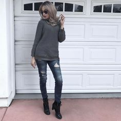 #FashionConfessions: Casual Friday in my jeans and sweater. #marinaberberyan