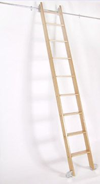 Always good to know where you can get one of these. Rolling Wooden Ladders: Remodelista