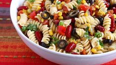 With easy throw-together ingredients, this Mexican Pasta salad is super fast and tastes great hot or cold.