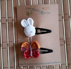 Butterflry, Rabbit snap hair clips, Kimono fabric, Japanese barrette,kanzashi,baby, toddler, adult snap hair clips, gift, birthday by LittlePearandApricot on Etsy Japanese Fabric, Japanese Kimono, Kimono Fabric, Barrette, Hair Clips, Special Occasion, Rabbit, Hair Accessories, Birthday
