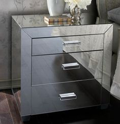 Modern mirrored furniture available online at http://www.robert-thomson.com/