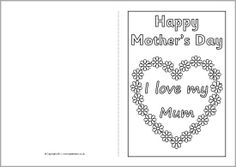 Free MotherS Day Card Templates  Card Templates Cards And Craft