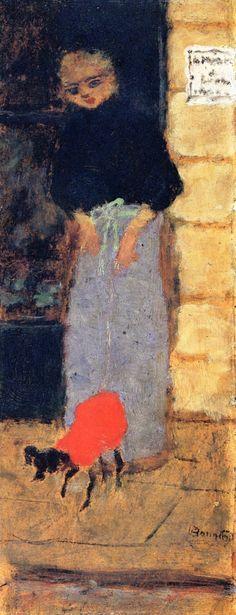 Woman in the Street Pierre Bonnard - circa 1898