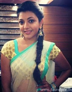 Kajal Agarwal in Half Saree #KajalAgarwal #TeluguActress #TamilActress