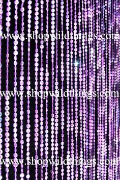 Things that are purple purple and awesome on pinterest - Purple beaded door curtains ...