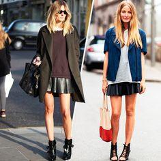Leather-skirt