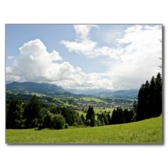 Allgeau, Germany, Bavaria, Sonthofen, View of Postcard