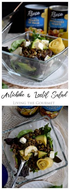 This post is written in partnership with Reese Specialty Foods. All opinions expressed are mine.  Living the Gourmet: Artichoke and Lentil Salad - this light, hearty salad is perfect for warm summer months.  @ReeseSpecialtyFoods #HearttoHeartKitchen #ad