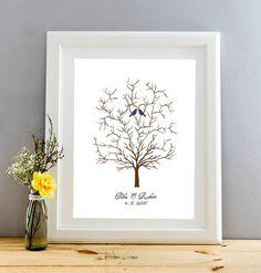 293e39c79 Svatební strom, dřevěný rám, formát A3, 2 barvy / Zboží prodejce Bestwishes