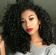 This is a Natural Color Kinky Curl Indian Virgin Hair Lace Front Wigs High Quality Human Hair Wig. Hair Inspo, Hair Inspiration, Curly Hair Styles, Natural Hair Styles, Pelo Natural, Curly Girl, Synthetic Wigs, Big Hair, Human Hair Wigs