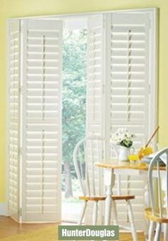 BI-FOLD - Shutter doors, paint the tri-fold shutters in the basement and put them back up between the living and library!