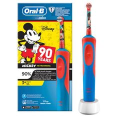 Oral-B Stages Kids Electric Rechargeable Toothbrush Disney Mickey Mouse 90 Years Disney Mickey Mouse, Disney Pixar Cars, Disney Magic, Timer App, Kids, Ebay, Health, Clean Teeth, Electric Planer
