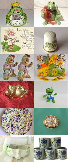 Finding Frogs Among The Flowers by dianadivine on Etsy--Pinned+with+TreasuryPin.com