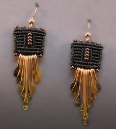 Joan Babcock Earrings--Joan Babcock is the most fantastic artist-the colors, lines, the tiniest weaves and she never lacks for ideas--a great inspiration for me