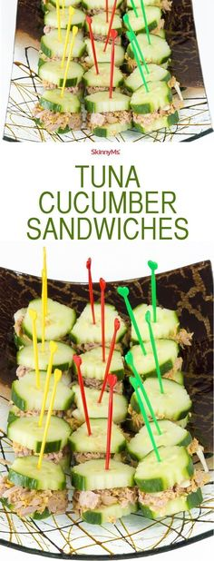 I started making these Tuna Cucumber Sandwiches a few weeks ago and they are the perfect snack. I even made 4 of these for lunch and was full!