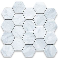 Carrara White Italian Carrera Marble Hexagon Mosaic Tile 3 inch Honed Stone Center Online,http://www.amazon.com/dp/B006XDT2R0/ref=cm_sw_r_pi_dp_iFLjtb1XSAX5Y9KN amazon