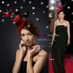 """Hot holiday sale is going on@La Mode by GV Miao Online #Jewelry/ #Accessories Store (https://www.facebook.com/LaModeByGVMiaoOnlineJewelryStore)!  All of my tips for creating mind blowing #party looks start with the head. """" #Santa Girl"""" delicately #handcrafted by #HK #headpiece #designer @angelwongimage showcased in my debut #NYC #Asian #Fashion Week #Extravaganza in Sept exudes #festive charm.    Only ONE piece available, message me NOW to confirm order before it's gone forever! FREE…"""