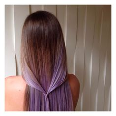 Lavender and brown ombre