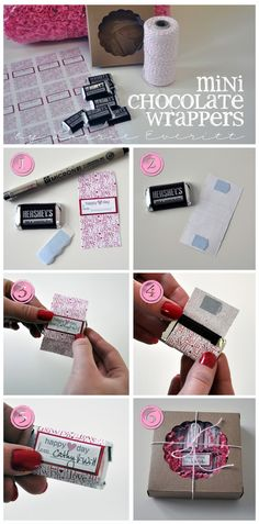 Mini Hershey Chocolate Bar Wrapper for Valentine's day!