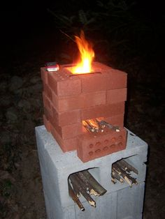 The Rocket Stove in action