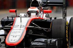 2015 F1 Pre Season Test 2 - Day 3 Circuit de Catalunya, Barcelona, Spain. Saturday 21 February 2015. Jenson Button, McLaren MP4-30 Honda.