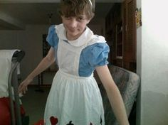 boy dressed like alice by MikeRamseyBunnyNose