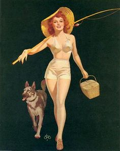 The American Pin-up : Photo Pin Up Vintage, Gil Elvgren, Famous Drawing Artists, Trajes Pin Up, Pin Up Pictures, Earl Moran, Pin Up Posters, Modern Pin Up, Pin Up Outfits