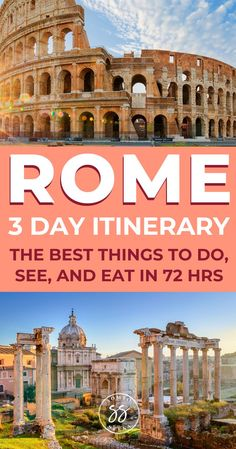 Discover how to spend the perfect 3 days in Rome. This itinerary covers how to visit the Colosseum, the Trevi Fountain, and other historical sites. Italy Travel Tips, Europe Travel Guide, Rome Travel, Budget Travel, Travel Guides, Backpacking Europe, Bucket List Europe, 3 Days In Rome, Best Of Rome