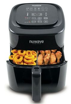 By combining hot air with high-speed air circulation, the advanced technology of the NuWave Brio Digital Air Fryer perfectly cooks all of your favorite fried foods quickly and efficiently. The NuWave Brio Air Fryer, As Seen On TV. Nuwave Air Fryer, Air Fryer Deals, Live Well For Less, Fryer Machine, Perfect Fry, Air Fryer Review, Best Air Fryers, Air Fryer Healthy, Brio