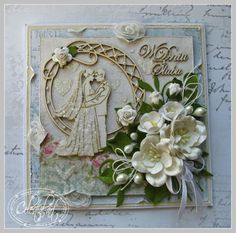 Celestial-Art, Wedding card with flowers