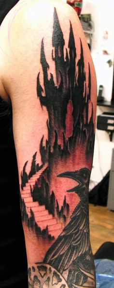 1000 images about castle bat tattoo on pinterest sleeve for Bat sleeve tattoo