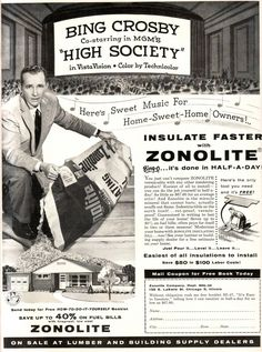 Bing Crosby for Zonolite