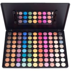 COASTAL SCENTS 88 Prism Eyeshadow Palette ($26) ❤ liked on Polyvore featuring beauty products, makeup, eye makeup, eyeshadow and palette eyeshadow