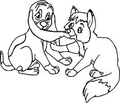 8 Best Coloring Pages (The Fox & The Hound) images