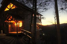 Sunset at our cabin :)  In Pigeon Forge, TN, available for rent....to see available dates and more pics of inside, go to www.VRBO.com/675424 and also www.facebook.com/nothinbutagoodtimecabin.