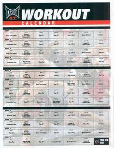 Tapout xt schedule pdf