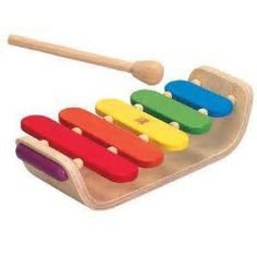 Oval Wooden Xylophone by Plan Toys