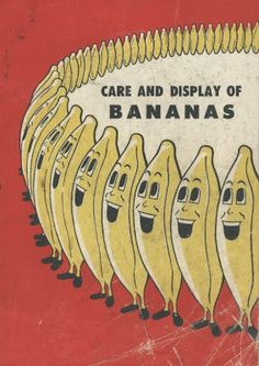A seemingly endless circle of singing bananas advocate for the proper care and display of themselves.