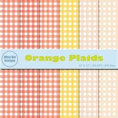 Orange Plaids