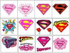 Supergirl Temporary Tattoos by Kazcreationz on Etsy Batgirl Party, Superman Party, Superhero Theme Party, Superhero Classroom, Printable Designs, Printable Stickers, Printables, Superwoman Logo, Breast Cancer Tattoos