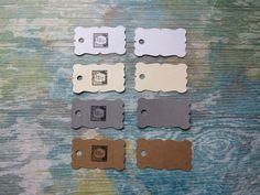 Étiquettes personnalisées, Étiquettes à bijoux, étiquettes à vêtements «Mini mini! Modèle B» (50) 4 couleurs disponibles de la boutique Lamainalacarte sur Etsy