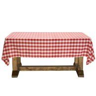 Balsacircle 60 X 102 Gingham Checkered Polyester Tablecloth For Garden Party Wedding Reception Catering Dining Table Linens Walmart Com Table Linens Table Cloth Garden Party Wedding