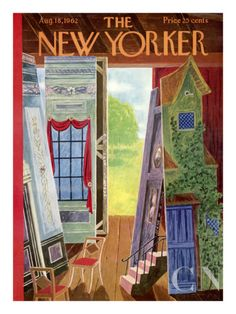 The New Yorker Cover - August 18, 1962  Ilonka Karasz
