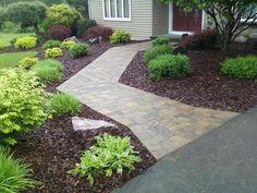 Paver walkway and planting