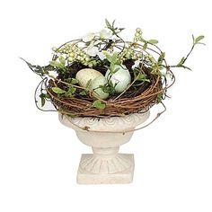 Twig Nest in Pedestal Bowl